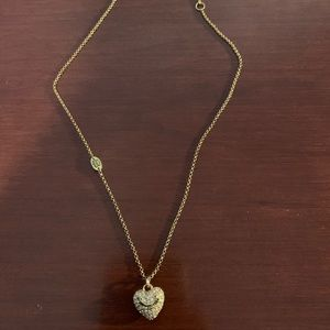 Juicy Couture Pave Heart Pendant Necklace